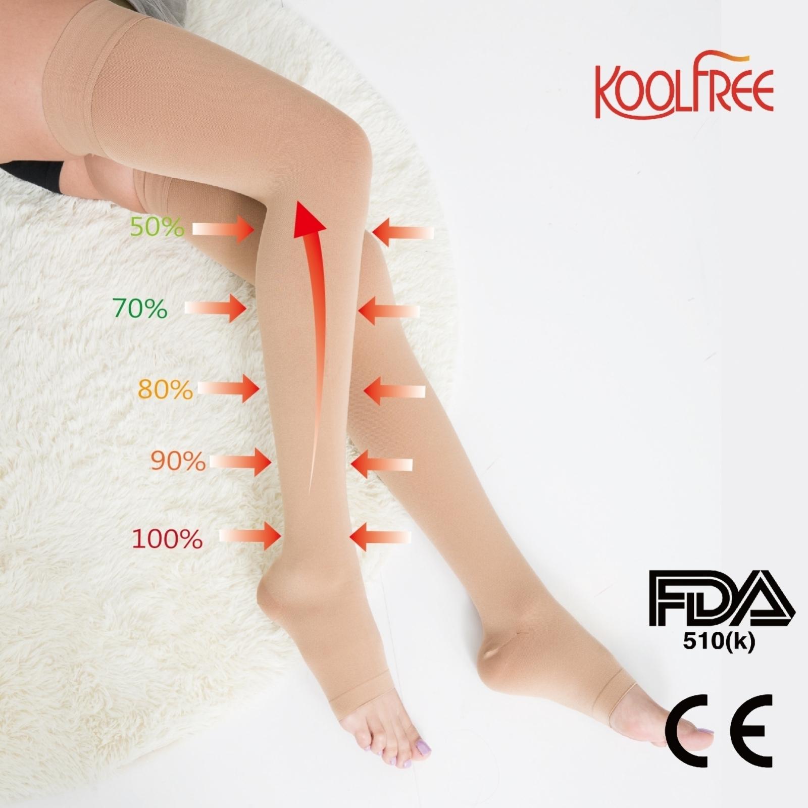 68ea741a39 Micro-fiber) Compression Open Toe Stockings 23-32mmHg - Compression ...